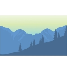 Silhouette of highlands vector
