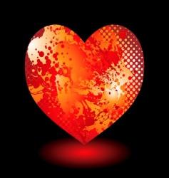 splat grunge heart vector image