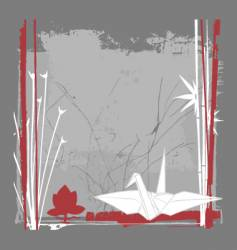 still life with crane vector image vector image