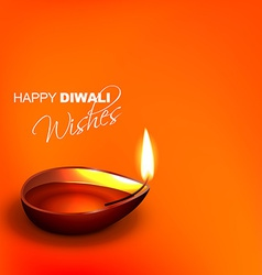 Stylish diwali diya background vector