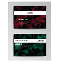 Template of flyer with abstract elements vector