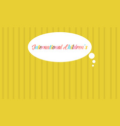 Yellow background card childrens day vector