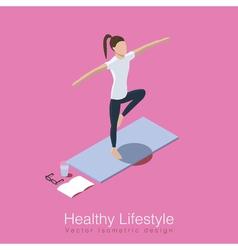 Yoga healthy life scene vector