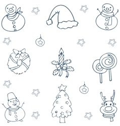 Hand draw christmas collection doodle vector