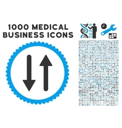 Arrows exchange vertical icon with 1000 medical vector