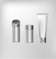 Cosmetics containers packaging vector