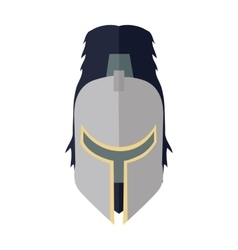 Steel knight s helmet vector