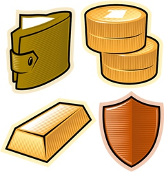 objects for money and security vector image