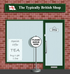 Typically british shop vector