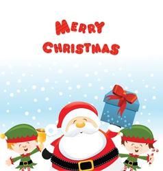 Santa with elf vector