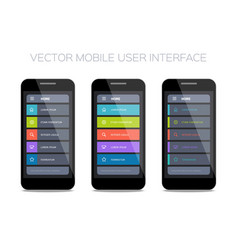 Set of home pages for mobile ui vector