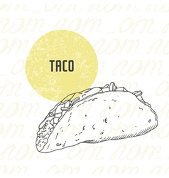 Hand drawn taco vector