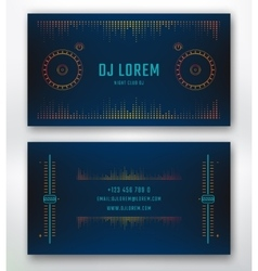 Business card for dj vector