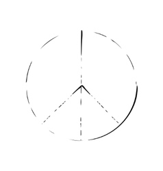 Peace symbol icon friendship pacifism vector