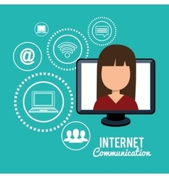 Internet communication design vector
