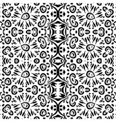 Abstract seamless outline pattern vector image vector image