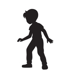 Boy silhouette vector image vector image