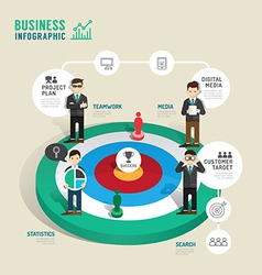 Business target board game concept infographic vector