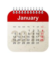 calendar 2015 -january vector image