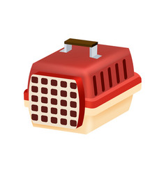 cat transport box or carrying case icon vector image