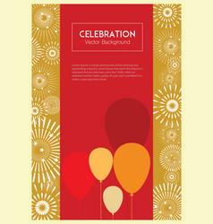 celebration color balloons background vector image vector image