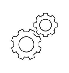 Cogwheels outline icon vector