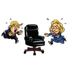 Donald Trump vs Hillary Clinton vector image vector image