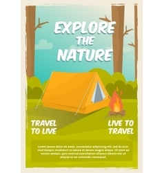 Exploration Of Nature Poster vector image vector image
