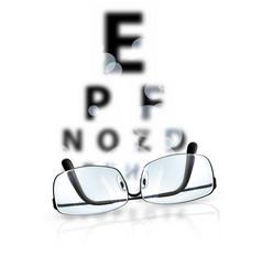 Eye test vector image vector image