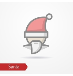 Festive face in new year hat icon vector image