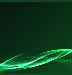 Futuristic speed power fusion green wave vector