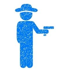 Gentleman robber grainy texture icon vector