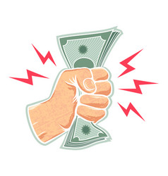 Hand and money vector