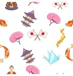 Japan pattern cartoon style vector