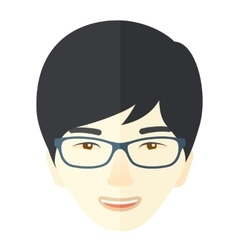 Joyful japanese boy vector