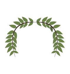 Laurel wreath round and half laurel bottom vector