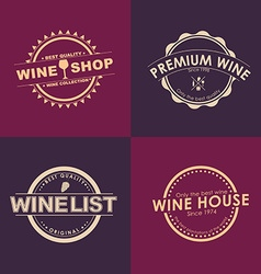Logo Design for wine shops cafes restaurants vector image vector image
