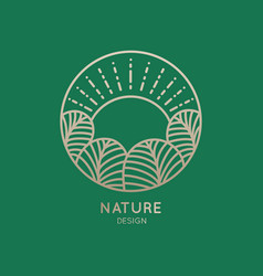 logo nature vector image vector image