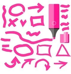 Marker Line Element Set Flat Design vector image vector image