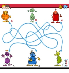 maze path activity for kids vector image vector image