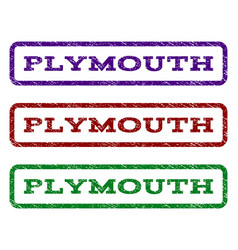 Plymouth watermark stamp vector