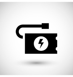 Portable battery icon vector image