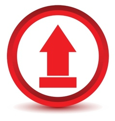 Red download upload icon vector
