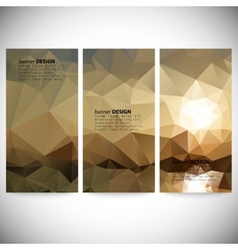 Set of vertical banners Mountains and sea vector image