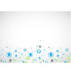 Social media background network concept vector