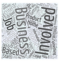 start your own business Word Cloud Concept vector image vector image