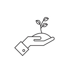 Startup growth icon vector