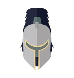 Steel Knight s Helmet vector image