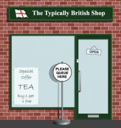 typically british shop vector image vector image