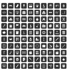 100 calculator icons set black vector